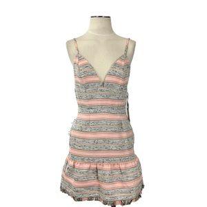 Lovers & Friends- Heidi Pink Tweed Mini Dress Med